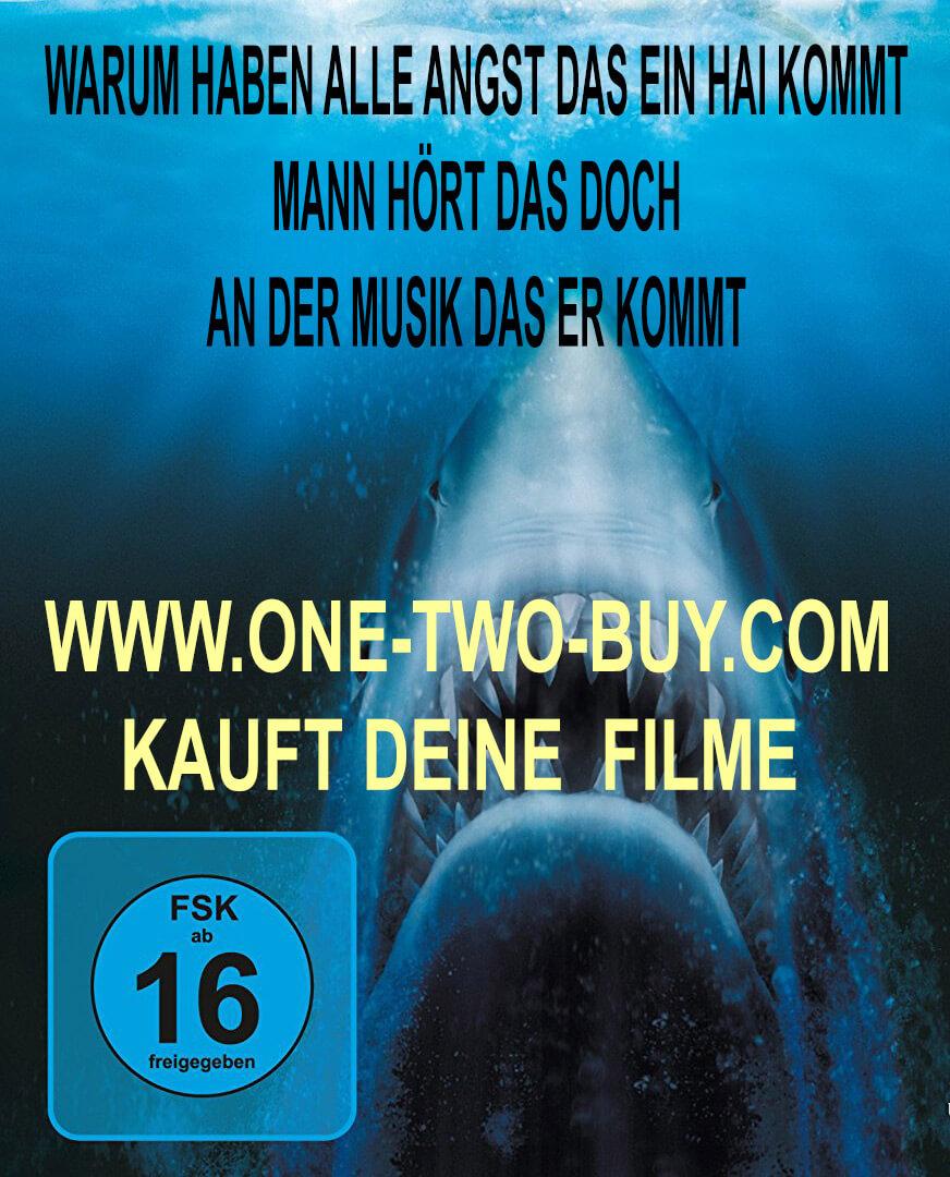 Schon dumm, diese Taucher. Man hört doch an der Musik, dass der Hai gleich angreift.  www.one-two-buy.com Ankauf und Verkauf von Filmen auf DVD und BluRay Jede menge Filme ab 3 euro